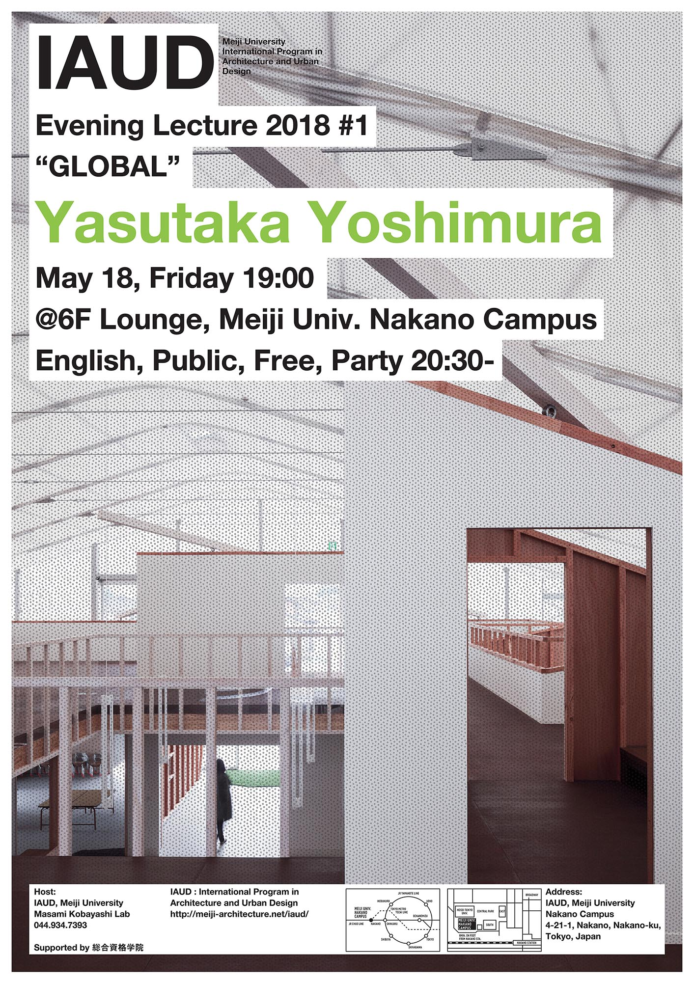 Evening Lecture_180518_Yasutaka Yoshimura_web