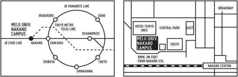 i-aud_map Nakano Campus Meiji University