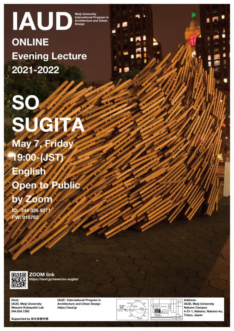 Evening Lecture_210507_So Sugita Meiji University I-AUD 杉田宗